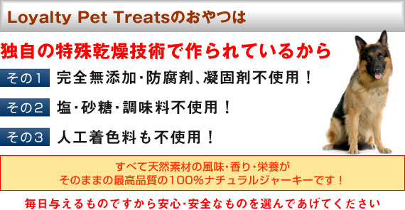 Loyalty Pet Treatsのおやつは